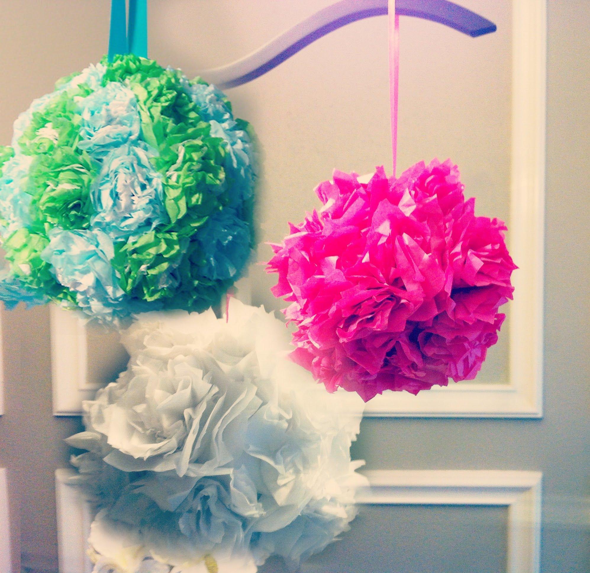 tissue paper pomanders  how to make flower balls  diy